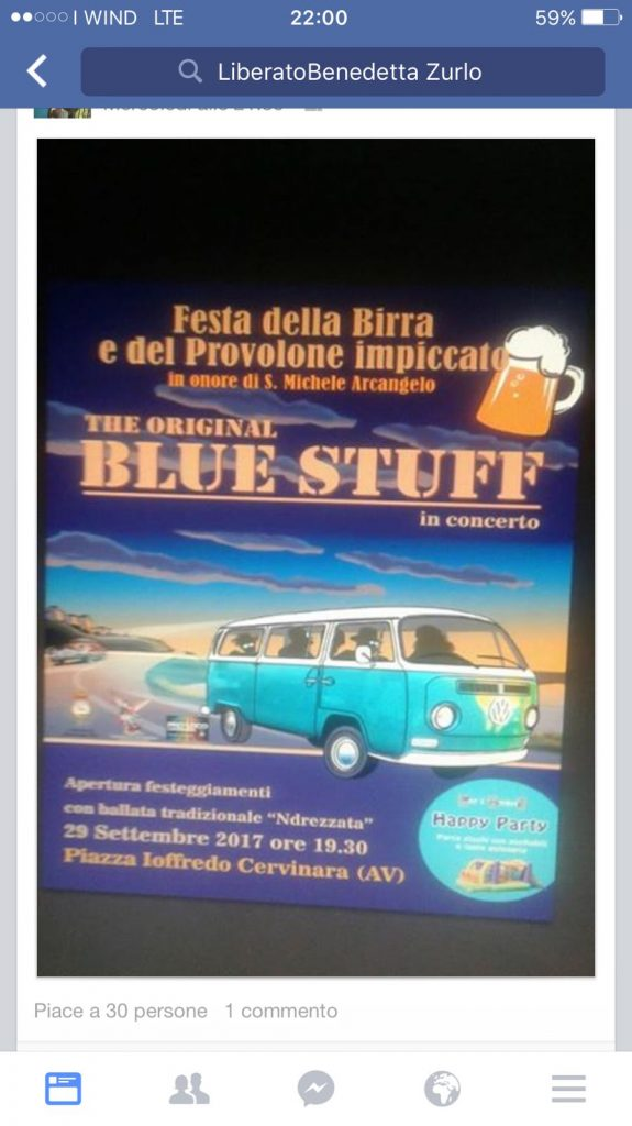Si rinnovano i festeggiamenti per San Michele alla Frazione Ioffredo con i BLUE STUFF in concerto.