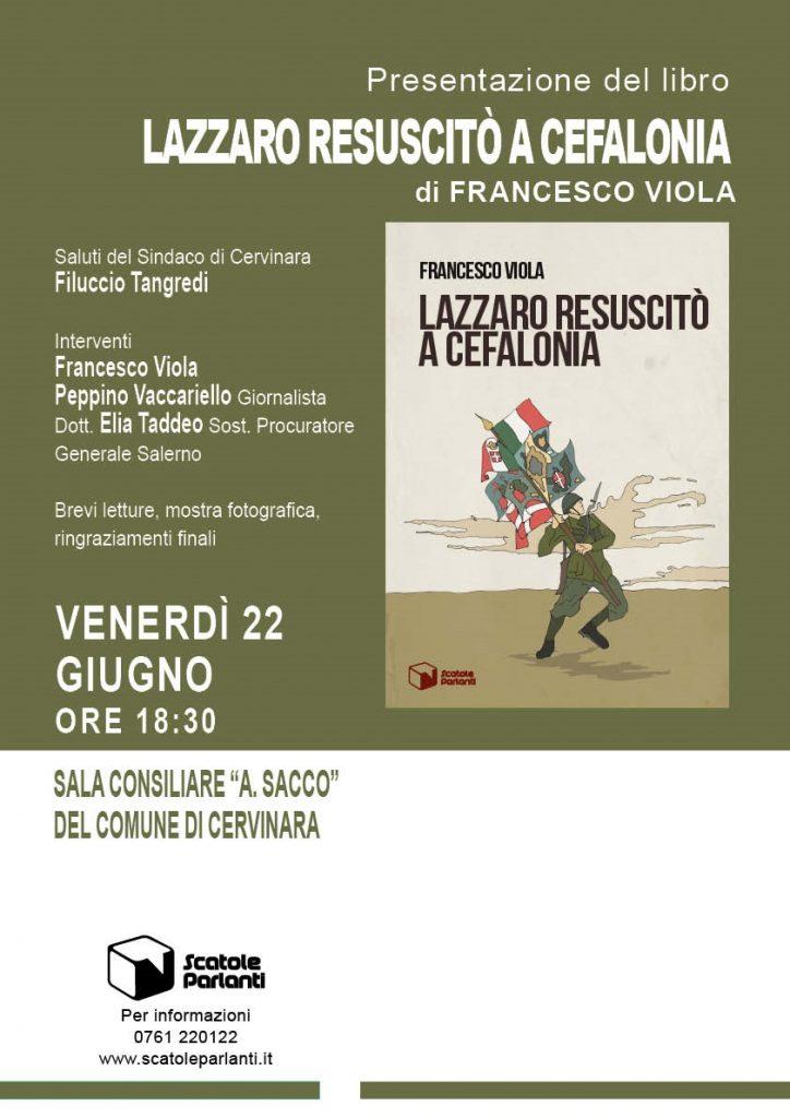 """Presentazione del libro """" Lazzaro resuscitò a Cefalonia"""" di Francesco Viola"""